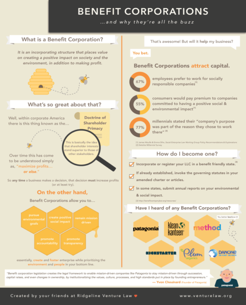 Benefit Corporation Infographic