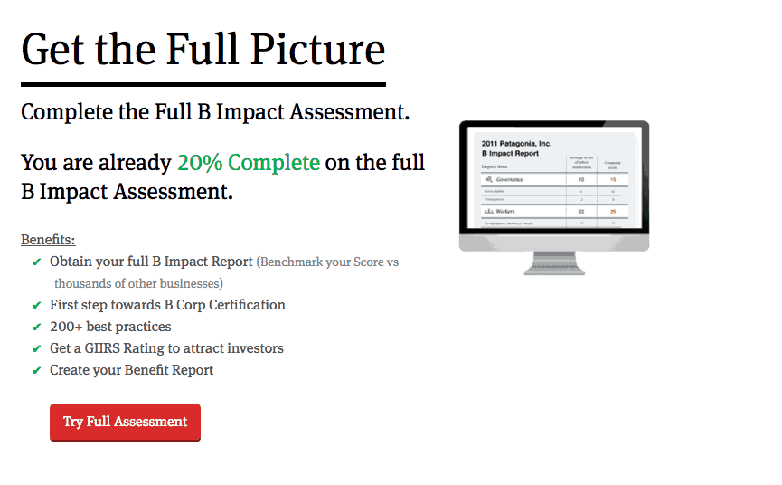 Complete the B Impact Assessment