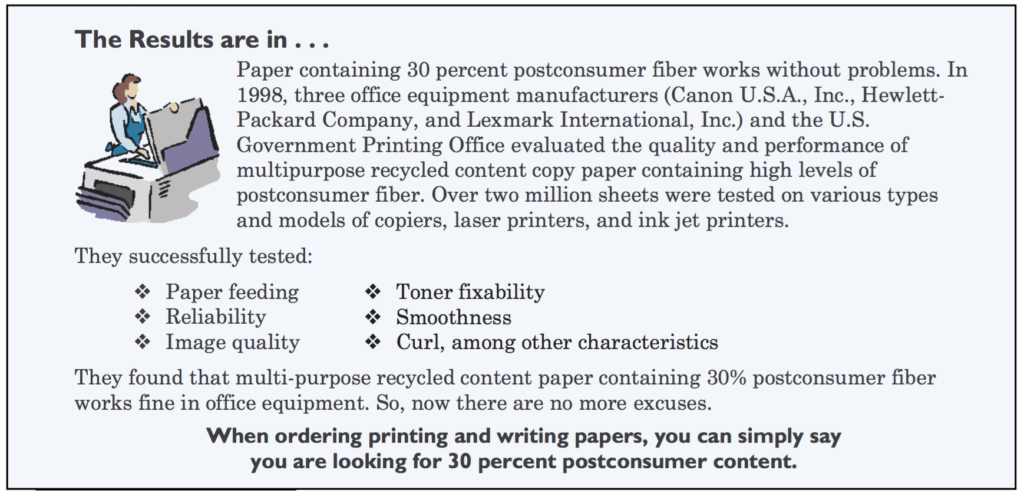 Does recycled paper jam copy machines?