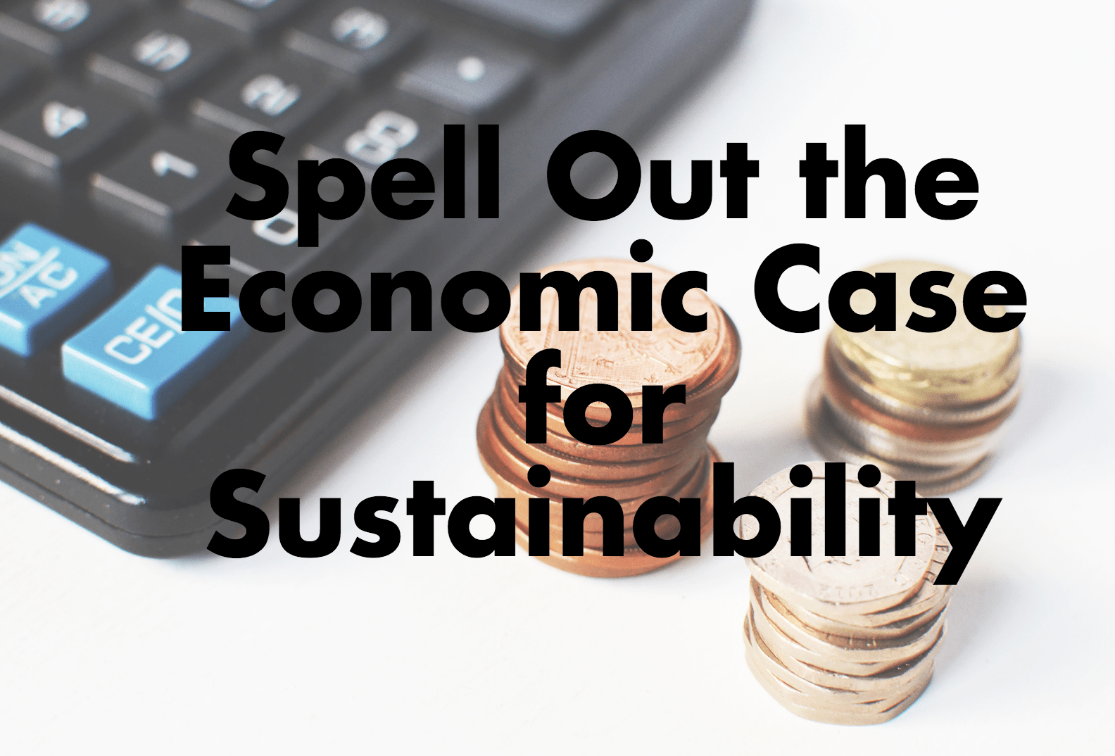 Spell out the economic case for sustainability.