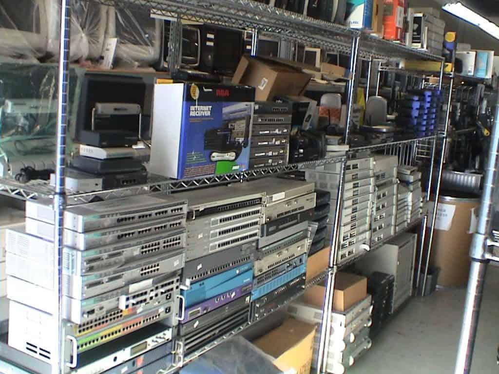 ewaste old computer equipment
