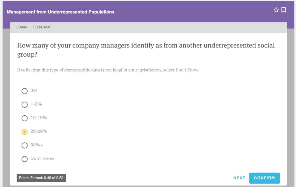management from underrepresented populations