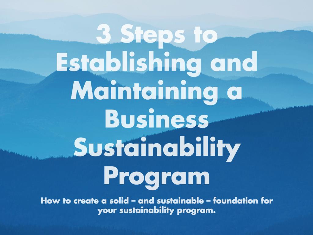 sustainability program