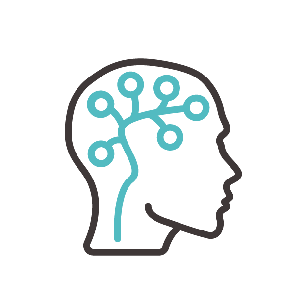 head silhouette with neurons